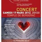 AFFICHE CONCERT BERGERAC 17 MARS 2012